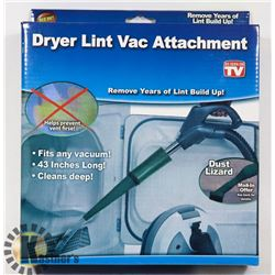 NEW DRYER LINT VAC ATTACHMENT