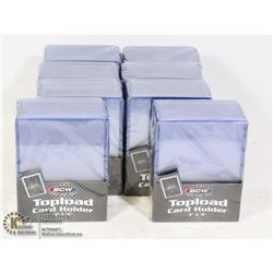 8 PACKS OF NEW BCW STANDARD SIZE CARD HOLDERS