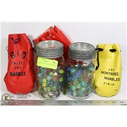 COLLECTION OF VINTAGE MARBLES, 3 BAGS