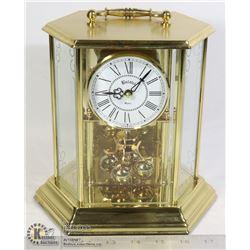 GERMAN BULOVA CLOCK MEASURES 12 INCHES TALL.
