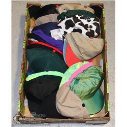 LARGE FLAT OF BASE BALL CAPS / TRUCK HATS
