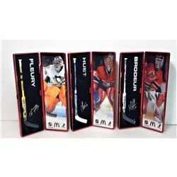 18)  LOT OF 3 NHL STAR STICKS FROM 2007-2008, IN