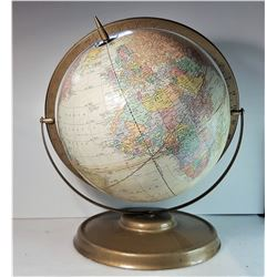 """19) VINTAGE  12"""" GLOBE ON STAND, SHOWS TIME"""