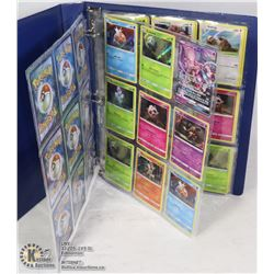BINDER OF 34 COLLECTABLE POKEMON CARDS IN MINT/NM