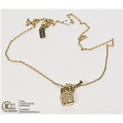 COACH BRAND PADLOCK KEY NECKLACE