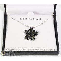 STERLING SILVER .925 SWAROVSKI STAR NECKLACE