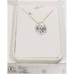 STERLING SILVER .925 SNOW WHITE NECKLACE
