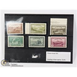 "1947 MINT CONDITION ""PEACE ISSUE"" STAMPS IN CARD"