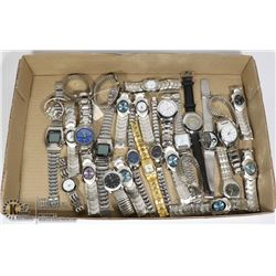 LARGE FLAT OF ASSORTED WATCHES
