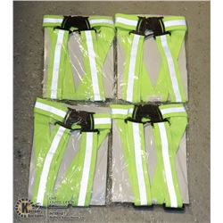 LOT OF 4 NORTH HIGH VISIBILITY SAFETY BELTS