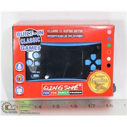 BUILT IN CLASSIC GAME PORTABLE PLAYER