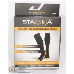 SIZE SMALL/ MEDIUM GRADUATED COMPRESSION SOCKS