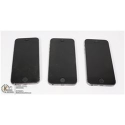 THREE IPHONE 5 FOR PARTS OR REPAIR