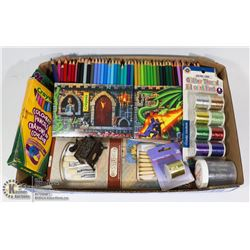 LARGE LOT OF ART SUPPLIES NEW & PRE-OWNED
