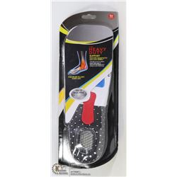 NEW MENS ADJUSTABLE SIZE SHOCK GUARD INSOLES