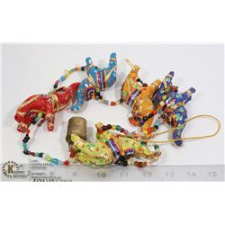 COLOURFUL ELEPHANT WIND CHIME 41 INCHES LONG