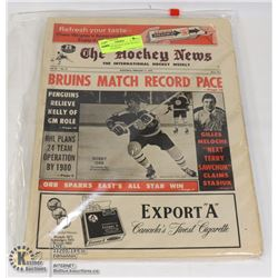 EARLY '70'S HOCKEY NEWS BUNDLE OF 10 MAGAZINES