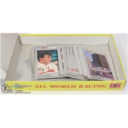 BOX OF ALL WORLD RACING CARDS F-1