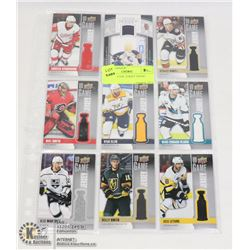 SHEET OF 9 NHL JERSEY INSERT CARDS