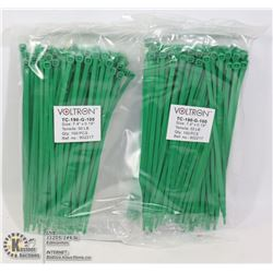 """TWO 100PACKS OF 7.4"""" X 0.19"""" CABLE TIES"""