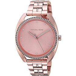 NEW MICHAEL KORS ROSE GOLD SUNRAYS DIAL MSRP $369