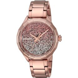 NEW DIESEL ROSE GOLD TONE GLITTERED DIAL MSRP $259