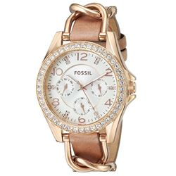 BRAND NEW FOSSIL MULTIFUNCTION GOLD-TONE MSRP $189