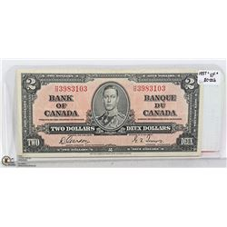 1937 CANADIAN TWO DOLLAR BILL