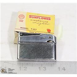 VINTAGE SUNFLOWER T457 CIGARETTE LIGHTER