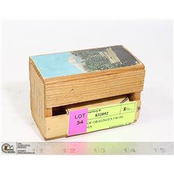 MINIATURE 1962 BOX OF ORANGES FROM CALIFORNIA