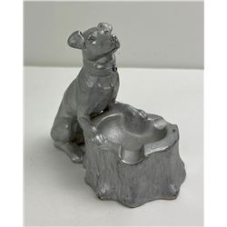 Antique Art Deco Pot Metal Terrier Dog Ashtray