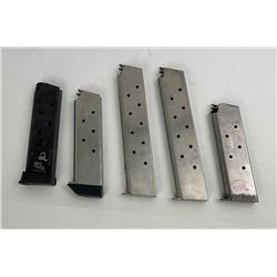 Lot of 5 Colt 1911 Pistol Magazines