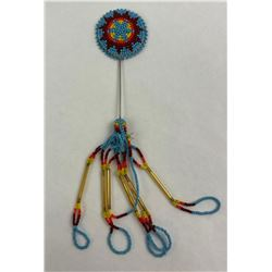 Montana Blackfoot Indian Beaded Stickpin