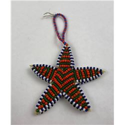 Montana Blackfoot Indian Star Fish Beaded Keychain