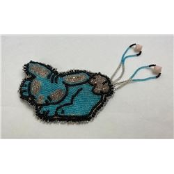 Montana Blackfoot Indian Beaded Rabbit Barrette