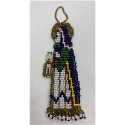 Montana Blackfoot Indian Beaded Virgin Mary
