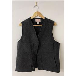 Filson Mackinaw Black Wool Vest Size 40