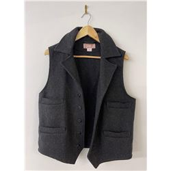 Filson Mackinaw Black Wool USA Vest Size M