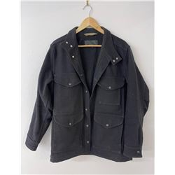 Filson Mackinaw Black Wool Cruiser Coat USA Size M