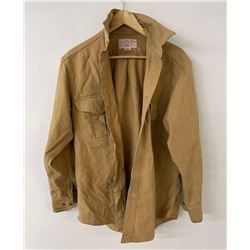 Filson Moleskin Long Sleeve Shirt Tan Size M