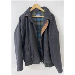 Woolrich USA Plaid Lined Black Wool Jacket Coat