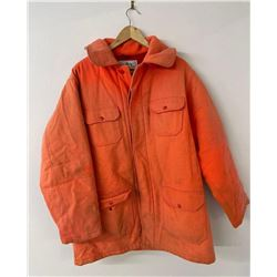 Woolrich USA Hunter Orange Long Jacket Size 46