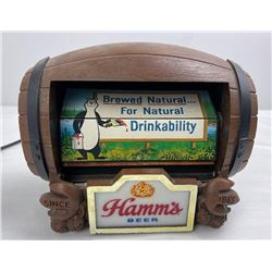 Hamm's Beer Barrel Flip Sign Lighted Display