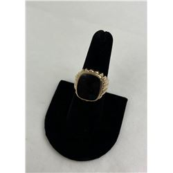 Men's Black Onyx 10k Gold Ring 8.28 Grams