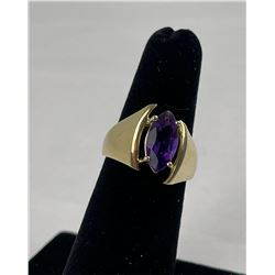 Russian Amethyst 14k Yellow Gold Ring 5.01 Grams