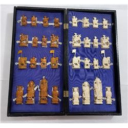 Antique Camel Bone Chinese Chess Set