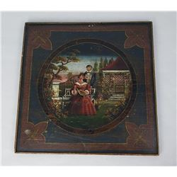 Folk Art Painted Game Table Top European