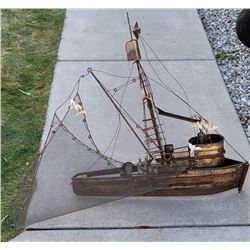 Curtis Jere Wall Sculpture Maria The Shrimp Boat