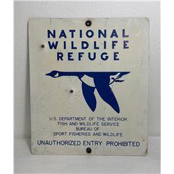 Montana National Wildlife Refuge No Hunting Sign
