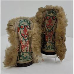Pair of Antique Elmer Six Cat Rack Carnival Punks
